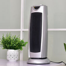 Tower Heater 1500W Oscillating Space Heater Electronic Thermostat 2 Heat Setting