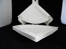 """Villeroy and Boch Set of 4 New Wave Triangle Salad Plates 8 1/2"""""""