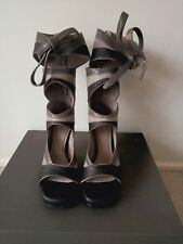 Rick owens cutout leather wedge boots New in box IT36.5