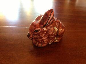 Ceramica Siciliana coniglio3 bomboniera sacchettino Nino Parrucca dipinta mano