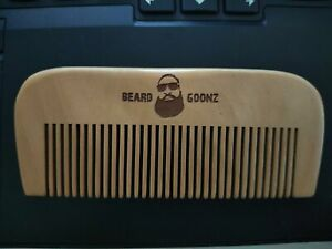 Peach Wood Beard & Mustache Comb