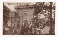 clisson  ruines à l'intérieur du château , entrée de la chapelle