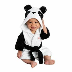 Lovely Baby Girls Cartoon Hooded Bathrobe Child Toddler Towel Robe Cute Winter