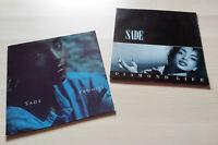 Sade Diamond Life & Promise 1984/1985 Vinyl LPs EPC 26044/86318 CBS Epic Records