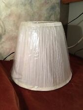 New Small Pleated Off-White Lampshade for Harp