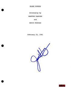 GFA Blade Runner JAMES HONG Signed Full Movie Script AD1 COA