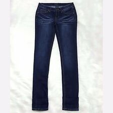 EARL JEAN Womens Skinny Stretch Blue Jeans Low Rise Size 3