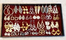 32 Piece Vintage & Modern Mixed Tone Dangle Pierced Earring Lot