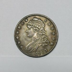 1834 50C Capped Bust Silver Half Dollar ~ Large Date/ Large Stars/ Small Letters