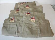 "Red Kap Mens Cargo Work Pants 33"" W x 25"" L Lot of 7 Khaki 100% Cotton NWT"