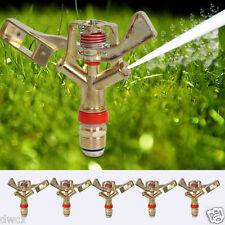 "5pcs set 1/2"" Garden Lawn Grass  360 Degree Water Impact water Impulse Sprinkler"