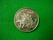 1997 Liberia Stegosaurus $1 one dollar Crown The Lost World BU (O-21)