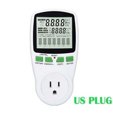 US Plug Electricity Power Consumption Meter Energy Monitor Watt Kwh Analyzer 16A