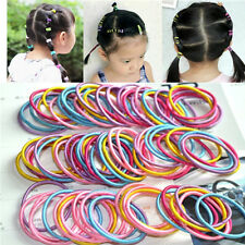 100 x New Baby Girl Kids Tiny Hair Bands Elastic Ties Ponytail Holder Accessory