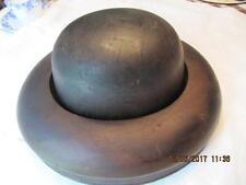 Antique Hardwood Hat Form Block Mold  Center top hat and brim mold 5 3/4 6 7/8