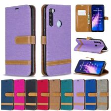 For Xiaomi Redmi 7 7A K20 Note 8 7 Canvas Leather Flip Wallet Card Case Cover
