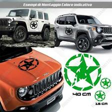 KIT 3 STICKERS STAR MUD BODYWORK GRAPHIC JEEP WRANGLER OFF ROAD GREEN