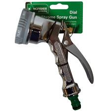 Kingfisher premium snap sur tuyau de pulvérisateur 6 cadran chrome jardin pistolet