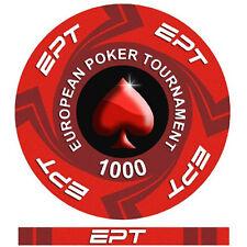 Fiches Ceramica EPT European Poker Tour Valore 1000 - Bordo Allineato