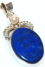 Genuine Lapis Lazuli Multi Gem Unique 925 Sterling SILVER Pendant Jewellery SALE