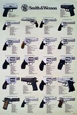 SMITH & WESSON REVOLVERS POSTER 23x34 PISTOLS, GUNS, U.S.A. FIREARMS, HANDGUNS 1
