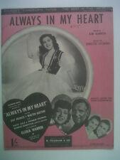 song sheet ALWAYS IN MY HEART 1942