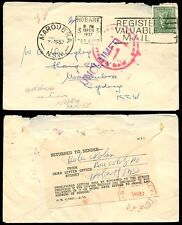 Australia 1957 Maroubra devueltos letra muerta Oficina + Etiqueta Tasmania