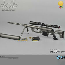 ZYTOYS 1:6 M200 Sniper Rifle Black Color 1/6 FIGURE Weapon Gun Model Toy Gift