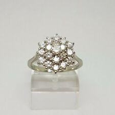 Stunning 18ct White Gold 1ct Diamond Cluster Ring.  Goldmine Jewellers.