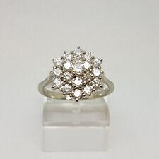 Stunning 18ct White Gold 1ct Diamond Cluster Ring.  Goldmine Jewellers.