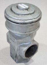 "I-1152 Vintage Cast Aluminum Fancy Fence Female T Rail Support Topper Cap 5 1/2"""