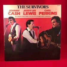 Johnny Cash Jerry Lee Lewis, Carl Perkins, les survivants 1982 UK Vinyl LP EXCELLENT