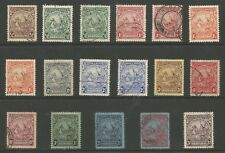 BARBADOS SG229-39 THE 1925-35 GV SET OF 17 INC PERF CHANGES FINE USED CAT £96+