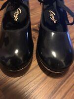 Capezio Womens Tele Tone Tap Shoes Size US 7 m, Black Patent Leather