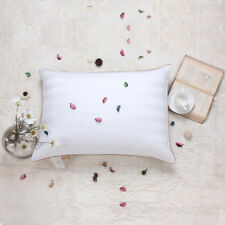Luxury 90%White Goose Down and Feather Pillow 100% Cotton Fabric,Queen