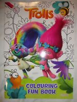 Dreamworks Trolls Fun Colouring Book Brand New RRP £3.99