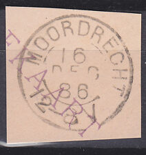 Kleinrond MOORDRECHT (HPK) op briefstukje