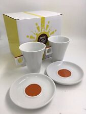 Nescafé Dolce Gusto 180ml Caffè Lungo Coffee Cup & Saucer Set of 2