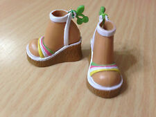 Barbie My Scene Madison Roller Girl Doll's Fashion Shoe Wedge Color Sandals Rare