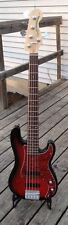 Fender Squier 5 String P Bass, Dual J's, Gig Bag, Great Shape!!