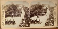 U.S. Cavalry Full Dress parade Stereo view,  Artillery Team copy pic,1898,
