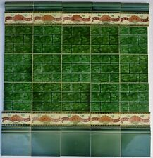 35 ENGLAND ANTIQUE ART NOUVEAU MAJOLICA TILES  c1900