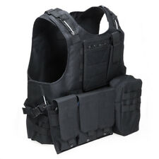 Tactical Military Swat Field Battle Airsoft Molle Combat Assault Plate Vest