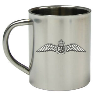 Royal Air Force RAF Badge  Memorabilia 8oz Stainless Steel Military Travel Mug
