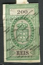 PORTUGUESE MOZAMBIQUE COMPANY; 1890s early Fiscal issue Imperf used 200r