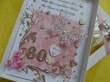 Handmade Personalised 3D Birthday Card Any Age / 21st Birthday Card + GIFT BOX