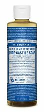 Dr. Bronner's Pure-Castile Liquid Soap Peppermint 8oz - FREE Same Day Shipping!