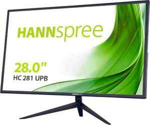 "Hannspree Monitor PC 28"" 3840 x 2160 Pixel 4K Ultra HD Nero HC281UPB"