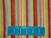 CLEARANCE 2 YARDS FLANNEL Bug A Boo Striped Pink Red Green Blue Cotton Fabric