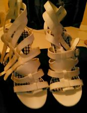 White wedge strapy heal dressy, cluby size 10